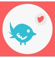 Cartoon flat simple bird mascot icon vector image