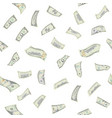 flying dollars seamless pattern vector image