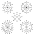 graphics star set vector image