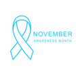 prostate cancer november awareness month poster vector image