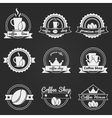 Set of coffee shop logos or vintage labels bages vector image