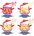 various soups for menu design home cooking vector image