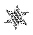 winter snowflake holiday element black snowflake vector image