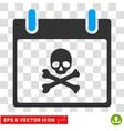 Death Skull Calendar Day Eps Icon vector image