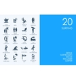 Set of BLUE HAMSTER Library surfing icons vector image