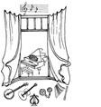 Window music2 black white vector image