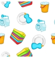 Cleaning pattern cartoon style vector image