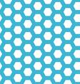 seamless blue hexagon pattern vector image