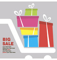 big sale concept card vector image