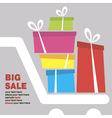 big sale concept card vector image vector image