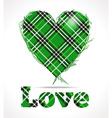 Green love vector image