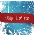 Realistic red paper Christmas Ribbon vector image vector image