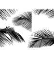 Palm Leaf Silhouettes vector image