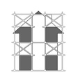 image of scaffolding vector image