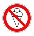 No ice cream symbol 104 vector image