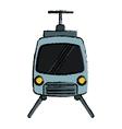 drawing tram travel public transport urban vector image