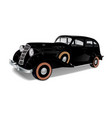 old vintage car of black color vector image