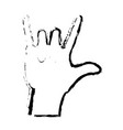 sketch hand man rock n roll gesture music icon vector image