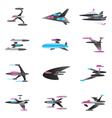 Spaceships in perspective vector image