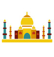 taj mahal famous culture indian architecture vector image