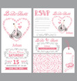 wedding invitationbride onretro bikepink decor vector image