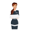 Woman hotel maid portrait vector image