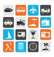 Flat Travel transportation tourism and holiday vector image vector image