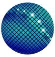 Blue mosaic ball vector image vector image