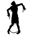 Inquisition executed zombie silhouette vector image