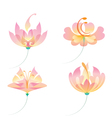 Set of oriental flowers vector image