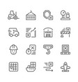 set line icons of logistics vector image