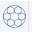 soccer ball sign navy line icon on vector image vector image