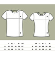 T-Shirt Sizes vector image vector image