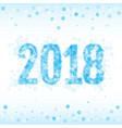 christmas 2018 vector image