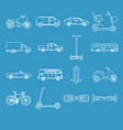 collection of transport icons in line style vector image vector image