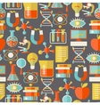 Science seamless pattern in flat design style vector image