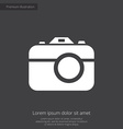 photo camera premium icon white on dark background vector image