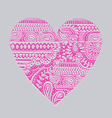 carved heart vector image vector image
