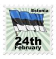 national day of Estonia vector image