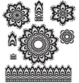 Round Ornament Pattern with pattern brush vector image vector image