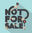 Not For Sal Typography Design vector image