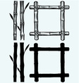 Frame of bamboo vector image vector image