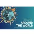 Around the world flat design postcard vector image