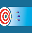 archery target with 3 arrows vector image
