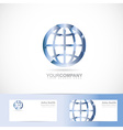 Earth world planet sign logo vector image