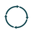 reload icon circle with arrows vector image