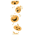 Smiling Halloween pumpkins vertical seamless vector image