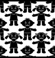 children seamless silhouette vector image vector image