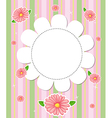A flowery designed stationery vector image