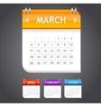 calendar march vector image